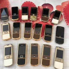 Nokia 8800 Vàng Hồng Da Trắng Đính Rồng Vàng 24K