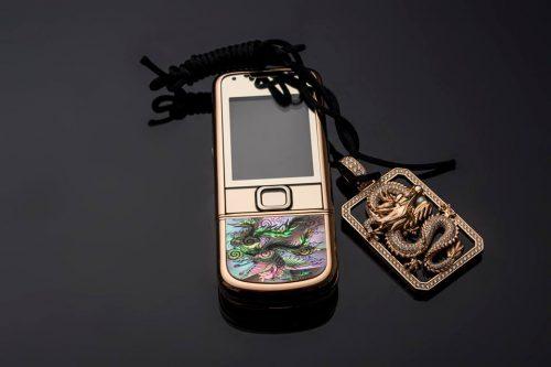 Nokia 8800 4G Vàng Hồng Long Phụng Kiệt Tác Nghệ Thuật – Bảo Hành 2 Năm