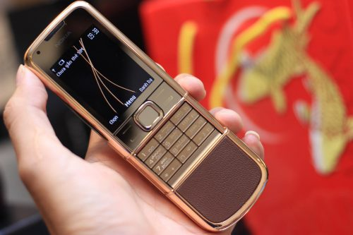 Nokia 8800 Vàng Hồng Da Nâu Chính Hãng – Bảo Hành 2 Năm