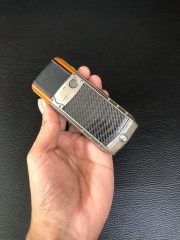 Vertu Ascent Titanium, Carbon Fibre, Black And Orange Leather
