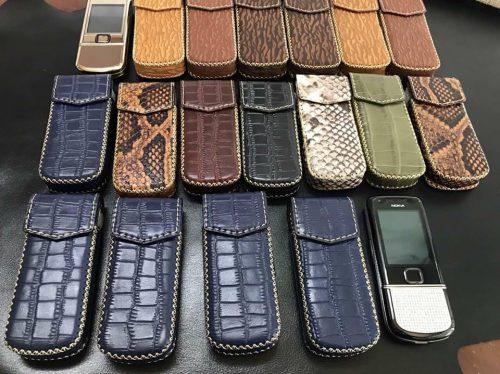 Bao Da Bò Nắp Gập Cho Nokia 8800 Đủ Vân, Đủ Mầu- Bảo Hành Da 12 Tháng
